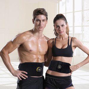 Rechargeable EMS Abdominal Muscle Stimulator Belt Abs Stimulator Electronic Body Slimming Belt Vibration Fitness Massager Belt