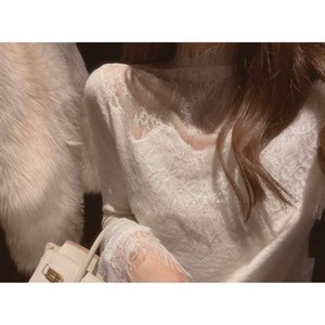 You   Lace Alpaca Knitted Blouse for women in winter