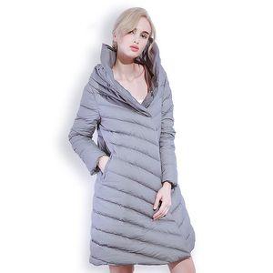 Winter Women New Design Cloak 90% White Duck Down Jacket Warm Vestidos Ladies Casual Loose Slim Parkas High Quality Coats