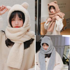 스카프 표범 실크 - 새틴 중국어 hijab 여자 머리 광장 작은 곰 실크 스카프 새로운 패션 프린트 비치 숄 랩 귀여운 스카비 쉽