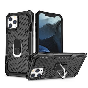 2020 Vendita a caldo Quattro angoli anti-shock rafforzando la copertura del telefono cellulare per iPhone 12 per Samsung S20 Plus Cassa del telefono posteriore con staffa