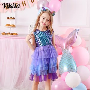 Girls Perform Dress Children Princess Tutu Dress Toddlers Summer Prom Dresses Kids Birthday Party School Casual Clothes Q1203 Q1203