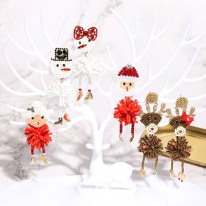 New Santa Claus Personality Fashion Cute Doll Snowman Creative Personality Christmas Day Gift Earrings