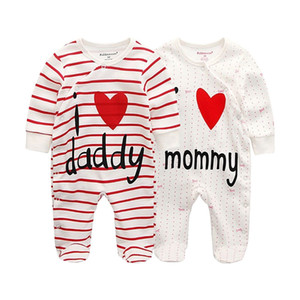 baby clothes full sleeve newborn boy girl foot rompers cotton baby clothing infant toddler costumes 201216