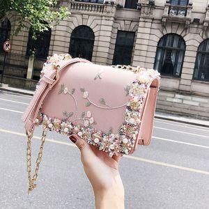 2019 nuova versione coreana della bellissima borsa a tracolla in rilievo in rilievo a catena diagonale wild diagonale