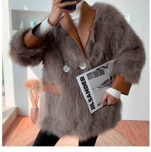 Faux Fur Jackets Women Winter Warm Coats Loose Design Furry Coats 2020 New Winter Leather with Fur Outwear for Women