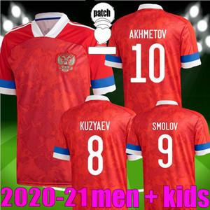 Yeni 2020 Rusya Futbol Formaları 10 Arshavin Miranchuk 18 Zhirkov 21 Erokhin 23 Kombarov Smolov Erkekler Futbol Gömlek