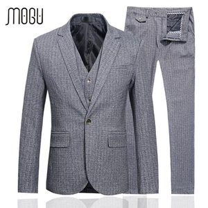 MOGU Wedding Suits For Men 2020 Spring New Arrival Men's Clothing High Quality Three Piece Costume Slim Fit Asian Size Men Suit