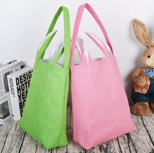 Easter Rabbit Basket Egg Candy Bucket Christmas Gift Bags Canvas Bag Santa Sacks Monogrammable Drawstring Bag Christmas Decorations YL1386