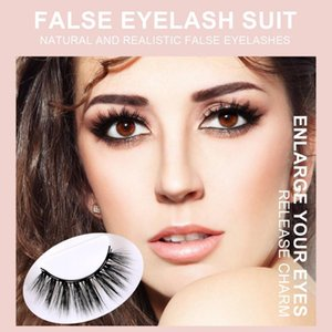 Three Pairs Of 3D Magnetic false eyelashes Eyeliner Liquid False Eyelashes Set Can be used repeatedly Magnet