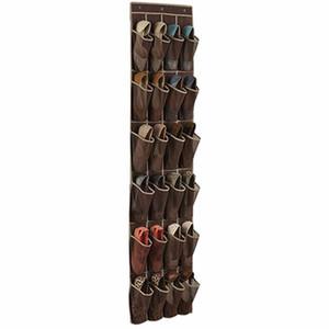 24 Pocket Shoes Space Door Hanging Organizer Rack Wall Bag Storage Closet Holder