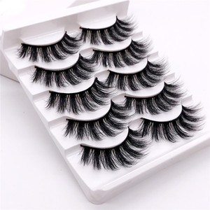 NEW 5Pairs 3D Mink Eyelashes Long Natural Eye Lashes Extension False Fake Thick Mixed Individual Makeup Tools Beauty Lashes strip lashes