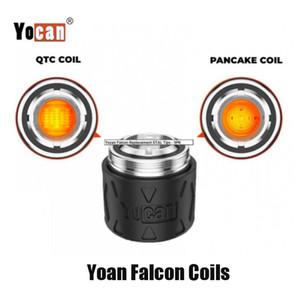 100% Original Yocan Falcon Bobina de Substituição Cabeça QTC Quatz Triple Bobina Panqueca Atomizador Núcleo para Cera Concentrat Dab Kit Genuine