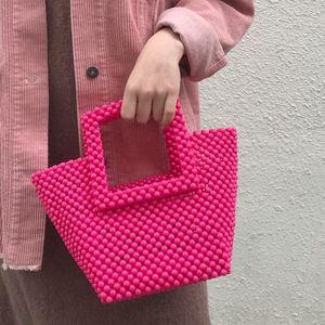 الكريستال الاكريليك الديكور حقيبة اليدوية النساء حمل حقيبة الوردي الملونة اللؤلؤ pochette يومية حزب محفظة بنات حقيبة الحيوانات الأليفة