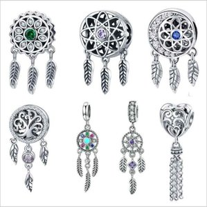 925 Sterling Silver Beads Charms for Pandora Jewelry Making Tassel Hollow Pendants DIY Beaded Bracelet Necklace Accessories Wholesale