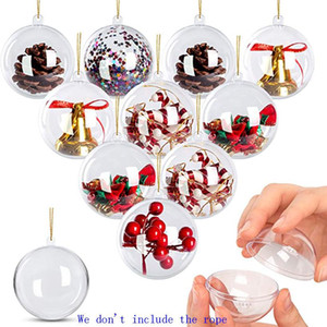 Ornements clairs autour des ornements de boule en plastique rondes ornements remplissables Ball d'ornements pour artisanat Décorations de Noël 5cm 8cm HH9-3696