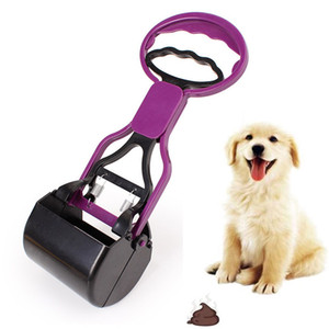 Freeephip 1PC 28см Pet Dog Pooper Scooter, Poop Pick Up Scoop Cleaner Animal Pet Pet Tots Держатель Лопата Длинная ручка