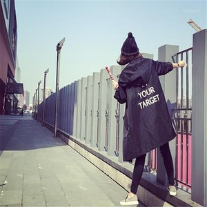 Fashion Long Trench Coats For Women 2020 Spring Autumn Windbreaker Outerwear Female Hooded Coats HC0931