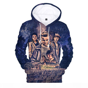 New Strange Things 3D Print Hoodie Hot Drama Men Ladies 2018 New Casual Sweatshirt Hip Hop Style Clothes Q0196-Q0440