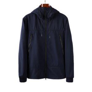 CP Topstoney Company 2019 봄 가을 느슨한 스타일 탑 남성 부드러운 쉘 자켓 코트 안경 모자 봉제와 두꺼운