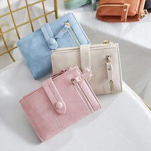 Stylish Handbag With Matching Colors Women Short Wallets Mini Money Purses Small Fold Female Coin Purse Card Holder 516
