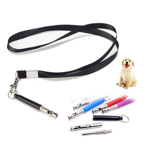 Colorful Candy Color Dog Whistle Keychain Stop Barking Silent Ultrasonic Sound Repeller Train Training With lanyard Pet Training Supplies