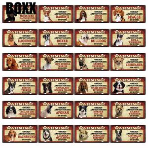 Pets Dog Basenji Beagle BullDog Afghan Boxer Metal Sign Tin Poster Home Decor Bar Wall Art Painting 15*30 CM Size