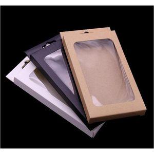 300pcs Universal Mobile Phone Case Package Paper Kraft Brown Retail Packaging Box For Iphone 7sp 6sp 8sp Samsu jllJFt bdebag