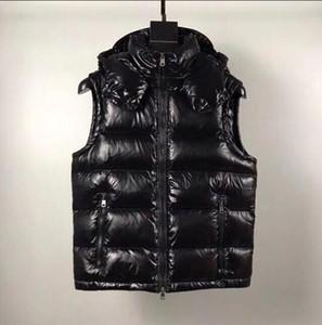 Venda quente Mens para baixo colete parkas com letras desenhista de inverno colete para homens mulheres casal clássico jaquetas casuais vestes casaco 2 estilos