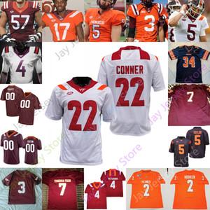 Virginia Tech Hokies Football Jersey NCAA College 7M V Hendon Hooker Tayvion Robinson Tre Turner Quincy Patterson II Burmeister Herbert Reed