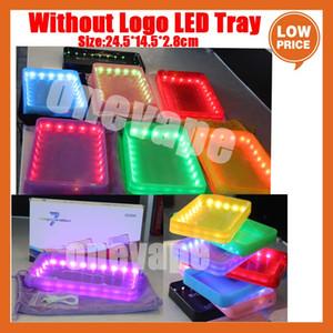 OEM пользовательские светодиодные светильники прокатки силиконовые силиконовые табаки 24,5x14.5 см ручные роликовые ролики лотки чистый цвет чехол аккумуляторная настенная плита курить