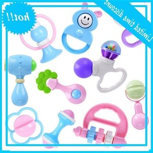 New 10-Pcs Bites Baby Boy Girl Hand Shaker Grab Rammelaar Music Dental Care Toys Safe Non Toxic Dropshipping