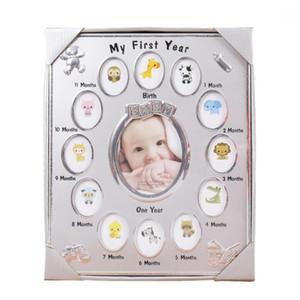 Baby Newborn Photo Frame Домашний декор 13 слотов День рождения Подарок Мой первый год Детская комната Ремень Рост 12 месяцев Bedside1