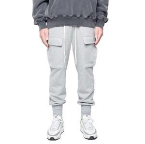 2020 New Cross-border dos homens grandes de trabalho de bolso de bolso tendência relaxado Retro lazer fitness calças esportivas 15
