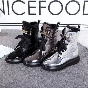 2020 Women Red Bottom Tread Slick Boots Black Leather Communa Ankle Boots For Women Flat Party Dress Winter Luxury Designer Shoes k2