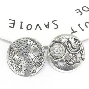 30pcs lot Gear styles retro silver copper pendants for bracelets earrings necklace fashionable alloy pendants woman DIY charm jewelry