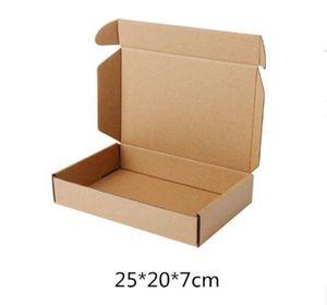 갈색 크래프트 골 판지 상자 비즈니스 익스프레스 쇼핑 배달 포장 종이 패키지 메일 링 상자 25 * 20 * 7cm