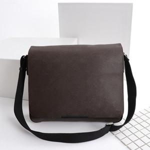 Bolso de mensajero clásico de los hombres bolsas de hombro de las mujeres moda estilo lindo lienzo de cuero para hombre bolso de los hombres para las señoras Tamaño: 33 * 27 * 9cm