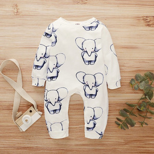 2020 Baby Romper Infant Boy Clothes One Piece Jumpsuit Fall Clothes For Toddler Girls Unisex Cotton Print Pullover