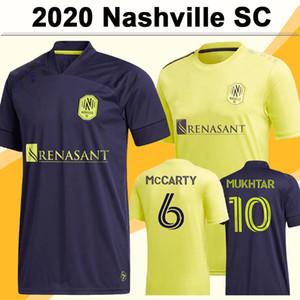20 21 Nashville Mens SC Futebol Jerseys Novo McCarty Badji Mukhtar Home Away Camisa de Futebol Leal Daniel Rios Zimmerman Manga Curta Manga Uniformes