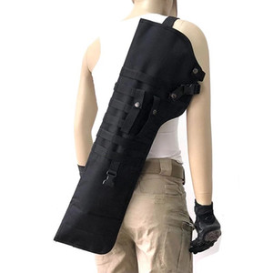 AK Rifle Military Gun Scabbard Outdoor Bag Knife Shoulder Holster Shoulder Padded Shot Tactical Sling Portable Backpack Mcrti