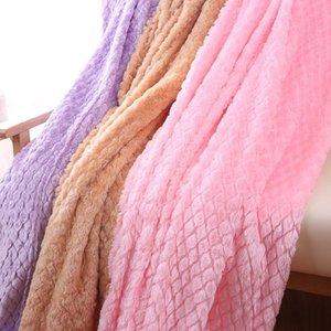 Ultra Soft Minky Fleece Mermaid Diamond Lattice Blanket Fluffy Spring Autumn Nap Sofa Throw Blanket