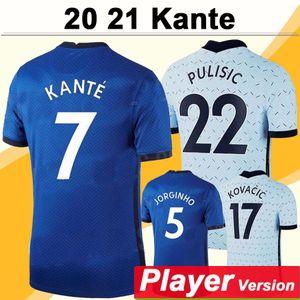 20 21 KANTE GIROUD JAMES Home Player Version Mens Soccer Jersey PULISIC PEDRO MORATA WILLIAN FABREGAS JORGINHO Short Sleeve Football Shirt