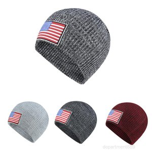 Knitted Hat Winter Fashion Warm Hedging Cap Flag Labeling Street Hip-hop Sports Casual Slouchy Caps Men Women Unisex Ear Protection OWF2995