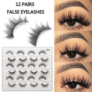 12 Pairs Soft Pack of Thick Makeup Natural Fake False For Beauty Extension Eye Eyelashes Eyelashes Soft Lashes Mink L3D1