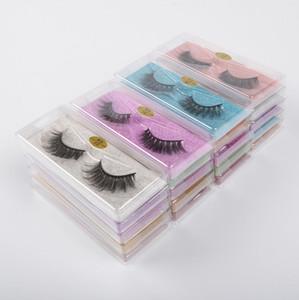 500 lots DHL Free New 10 styles 3D Mink Eyelash Make-up Eyelashes Colorful-Card Lashes Natural Thick Fake Makeup Tool False Lashes Extension