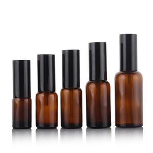 Amber Glass Sprack Bottion Bottles 5ML / 10ML / 15ML / 20ML / 30ML / 50ML / 100ML حاوية مستحضرات التجميل