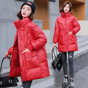 Parka Women New Winter Jacket Women Coat Long Stand-up Collar Outwear Female Parka Thick Cotton Padded Female Basic Coats T25