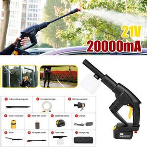 Kablosuz Araba Çamaşır Makinesi Lityum Pil Şarj Taşınabilir Su Tabancası Su Borusu Ile Otomatik Yıkama Araçları Araba Temizleme Parçaları 21v1