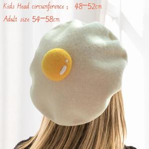 El yapımı yün keçe ressam yaratıcı ebeveyn-çocuk şapka kış sıcak kap şirin çocuk bebek haşlanmış yumurta bere
